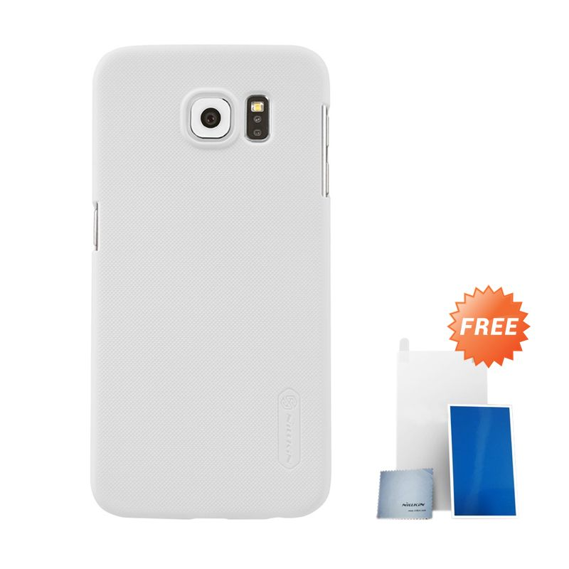 Nillkin Super Frosted Shield White Hardcase Casing for Samsung Galaxy S6 G920F + Screen Protector