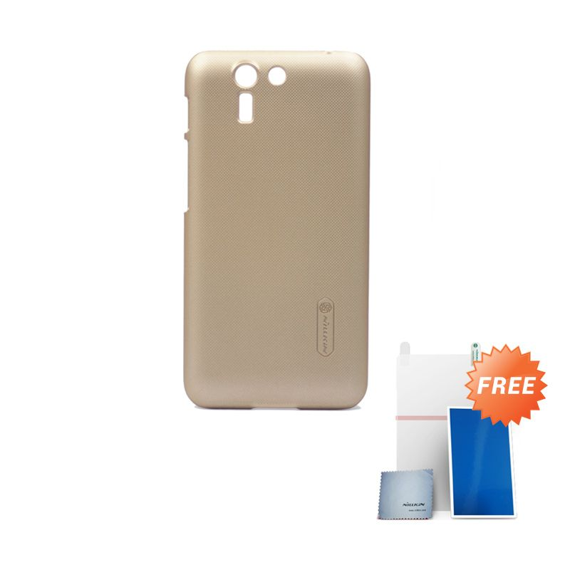 Nillkin Super Frosted Shield Hardcase Gold for Asus Padfone S + Screen Protector