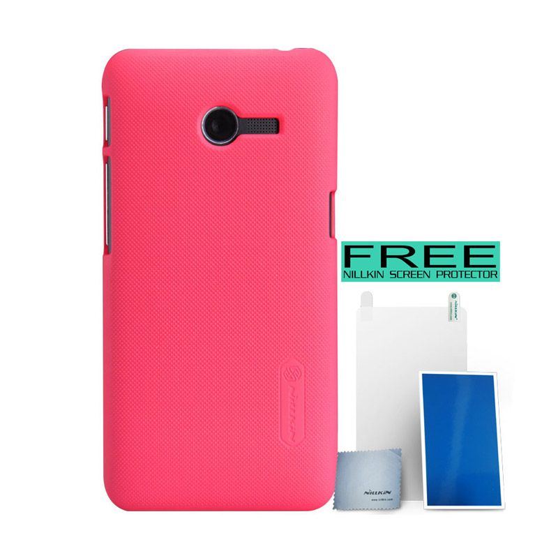 Nillkin Super Frosted Shield Pink Casing for Asus Zenfone 4 A400CG + Screen Protector