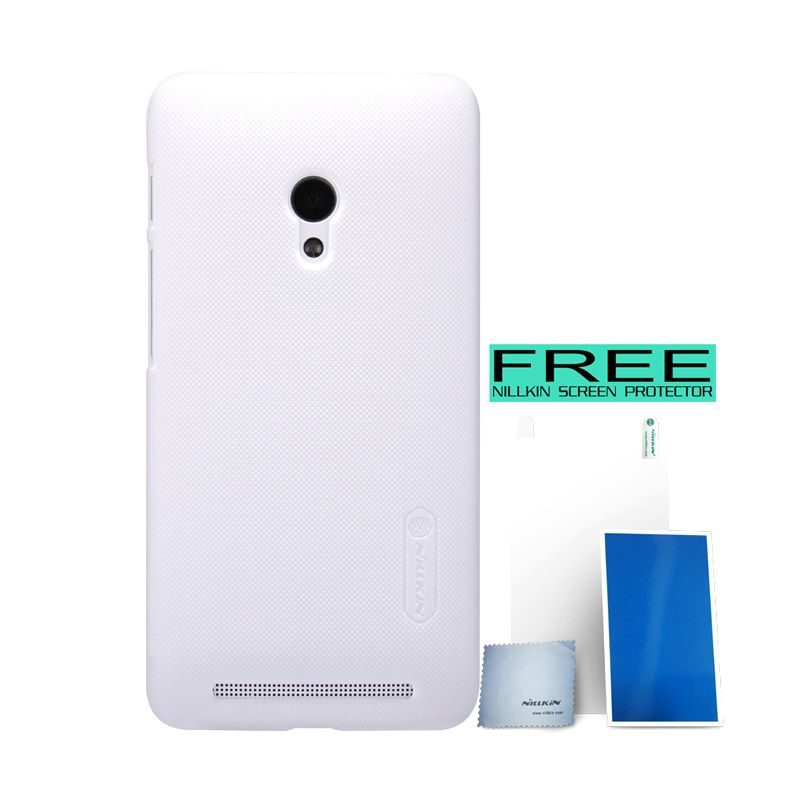 Nillkin Super Frosted Shield Putih Casing for Asus Zenfone 4S A450CG + Screen Protector