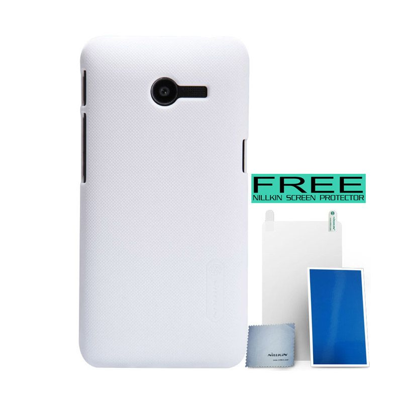 Nillkin Super Frosted Shield White Casing for Asus Zenfone 4 A400CG + Screen Protector