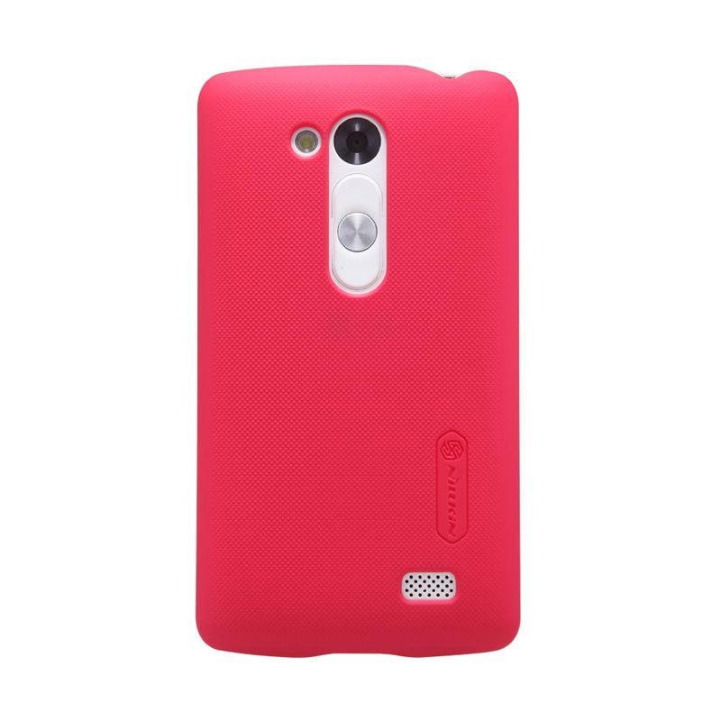 Nillkin Super Frosted Shield Merah Casing For LG L Fino D295 + Screen Protector