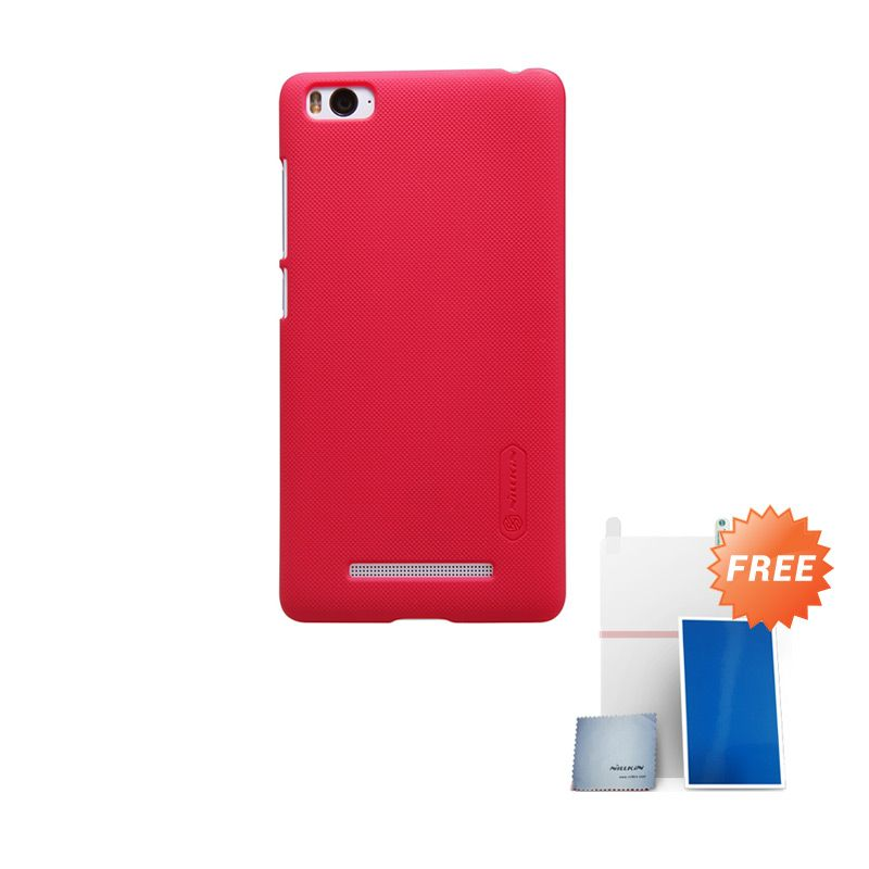 Nillkin Super Frosted Shield Merah Casing for Xiaomi Mi 4i + Screen Protector