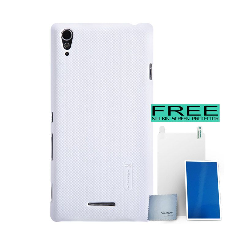 Nillkin Super Frosted Shield Putih Casing For Sony Xperia T3 + Screen Protector