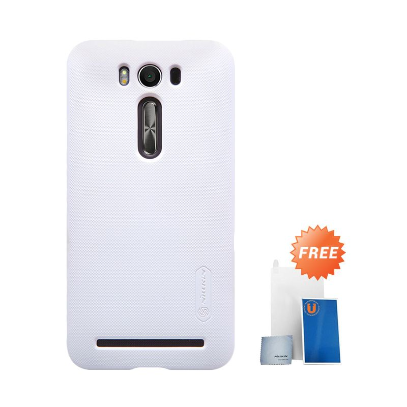 Nillkin Super Frosted Shield White Casing for Asus Zenfone 2 Laser ZE500KL + Screen Protector