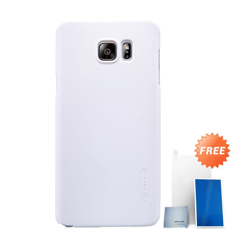 Nillkin Super Frosted Shield White Casing for Samsung Galaxy Note 5 + Screen Protector
