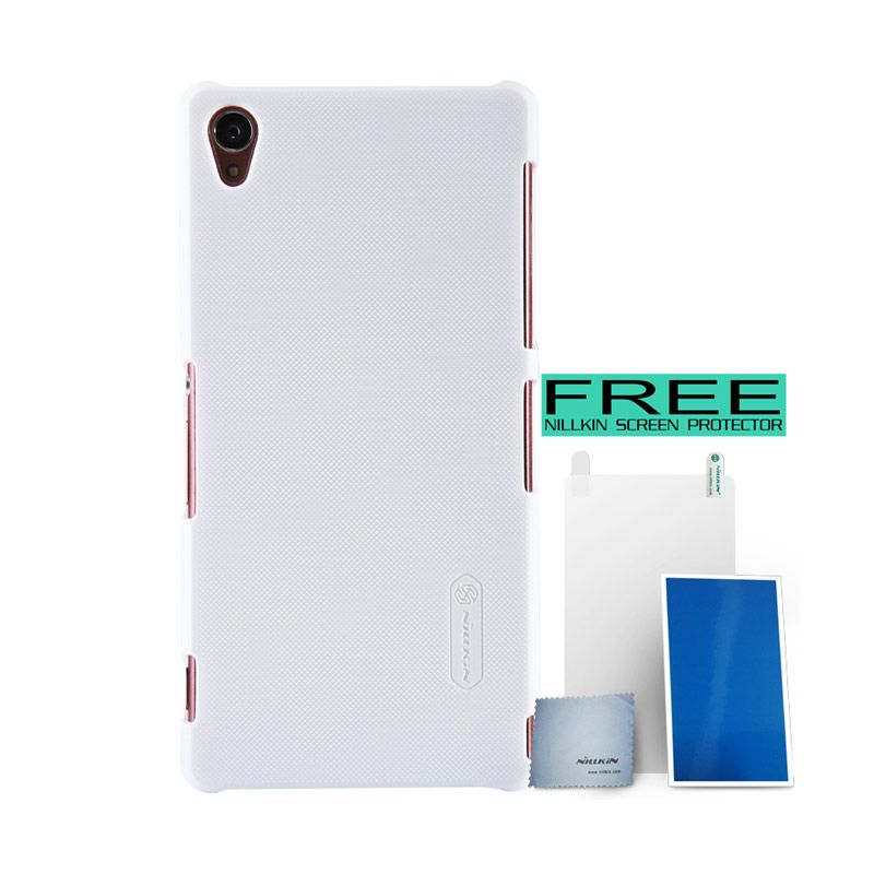 Nillkin Super Frosted Shield Putih Casing For Sony Xperia Z3 + Screen Protector