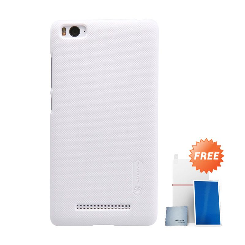 Nillkin Super Frosted Shield Putih Casing for Xiaomi Mi 4i + Screen Protector