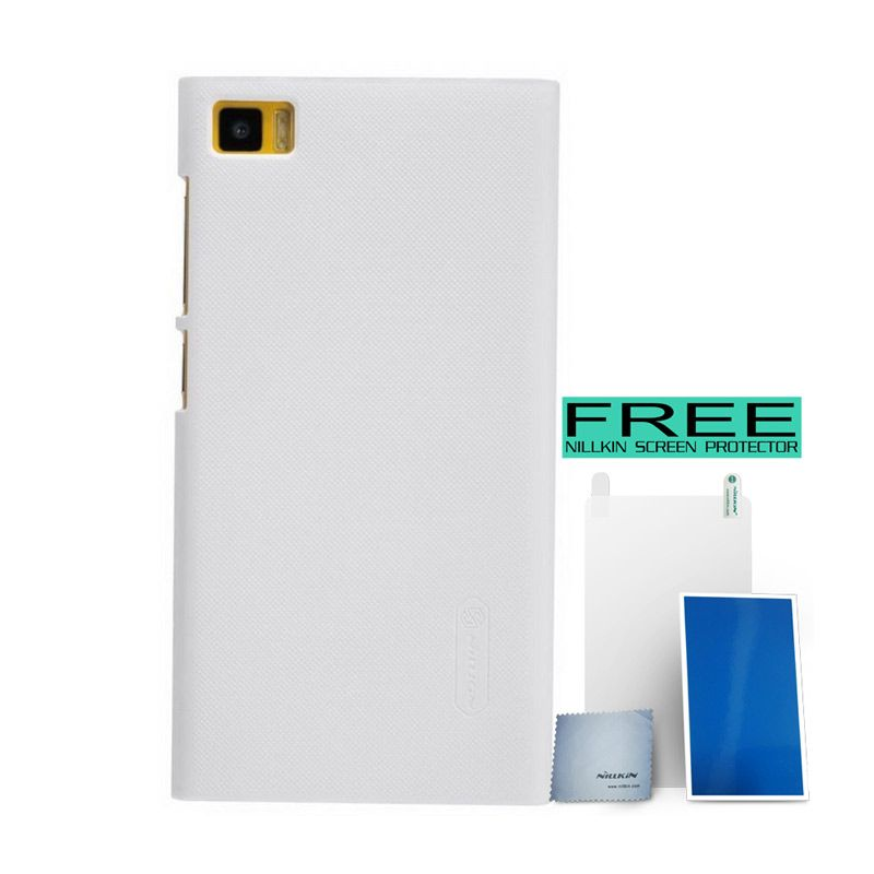 Nillkin Super Frosted Shield White Casing for Xiaomi Mi3 + Bonus