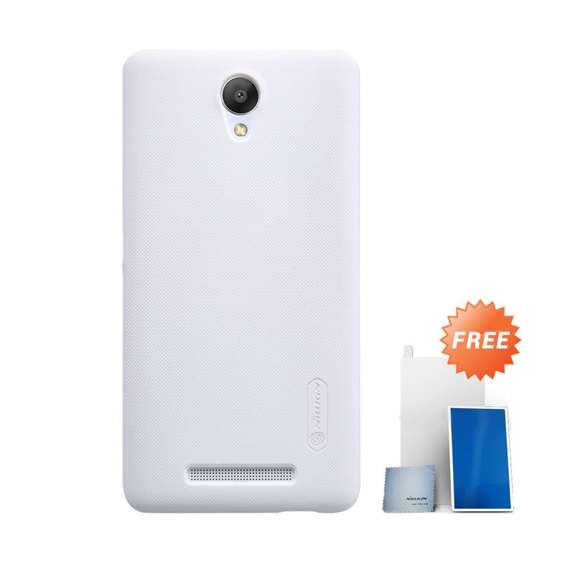 Nillkin Super Frosted Shield White Casing for Xiaomi Redmi Note 2 + Screen Protector