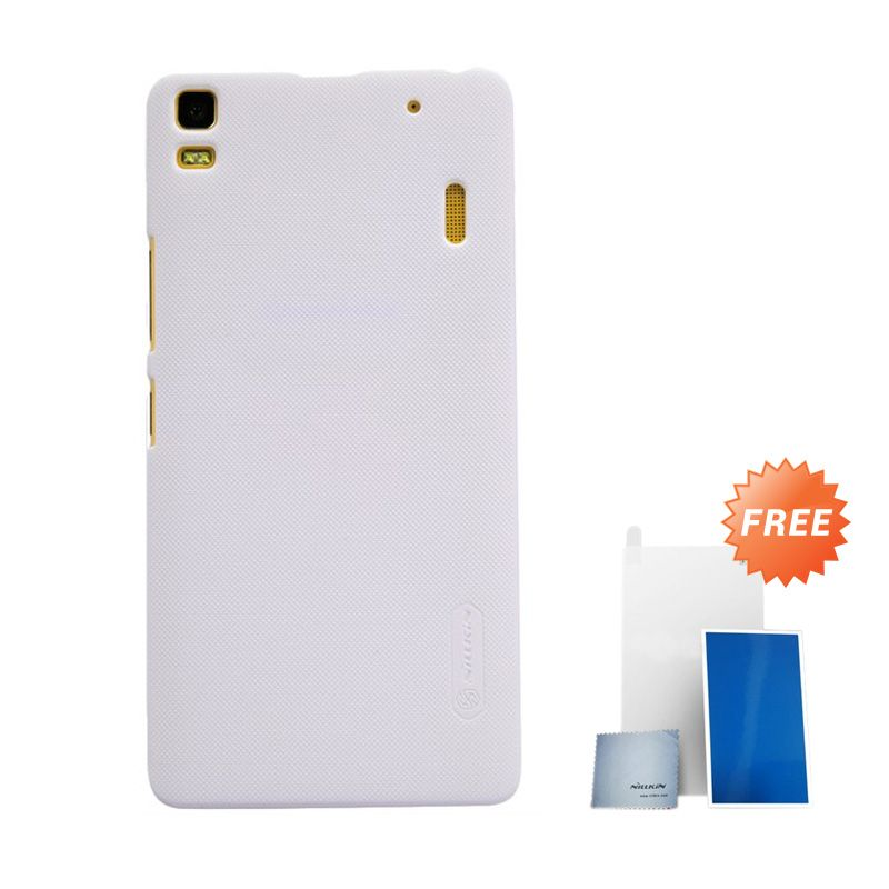 Nillkin Super Frosted Shield White Hard Casing for Lenovo K3 Note or Lenovo A7000 + Screen Protector [Original]
