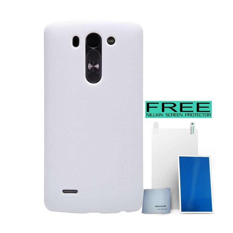 Nillkin Super Frosted Shield White Hardcase For LG G3 Beat + Bonus
