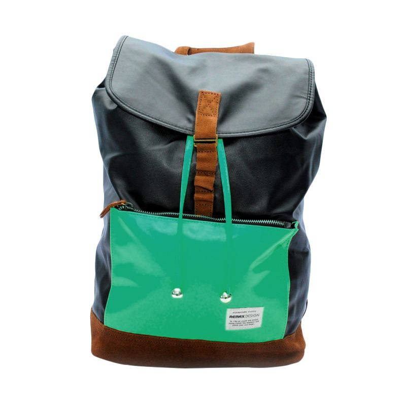 Remax Double 308 Colourful Fashion Green Tosca Tas Ransel