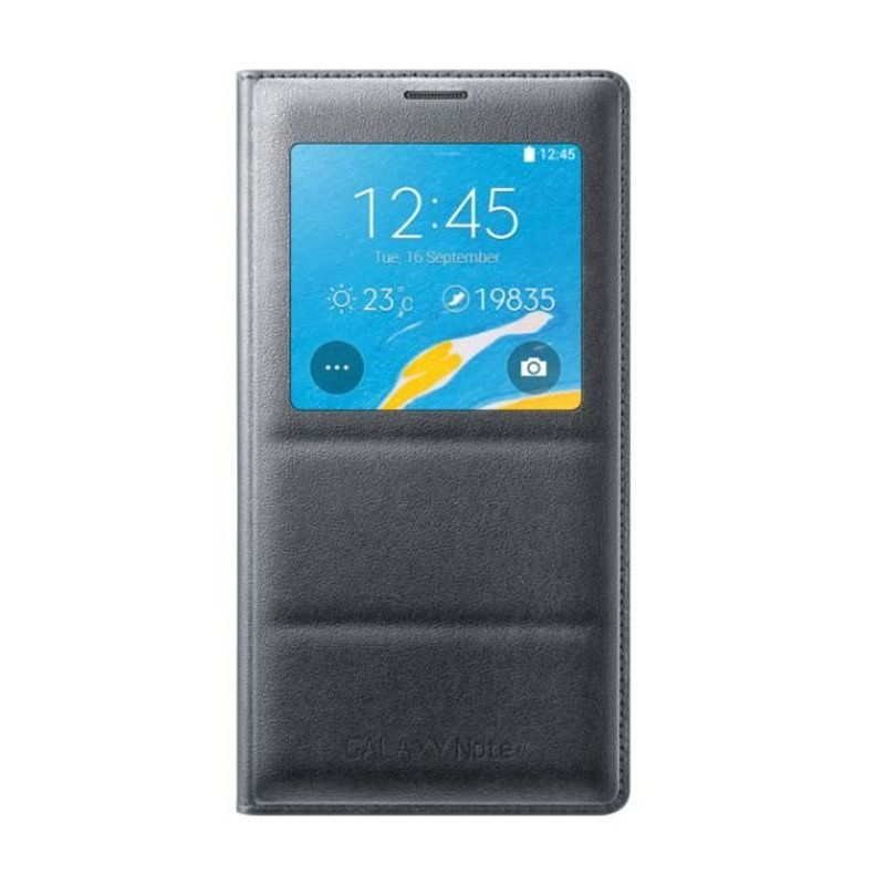 Samsung Original S-View Black Flip Cover Casing for Samsung Galaxy Note 4