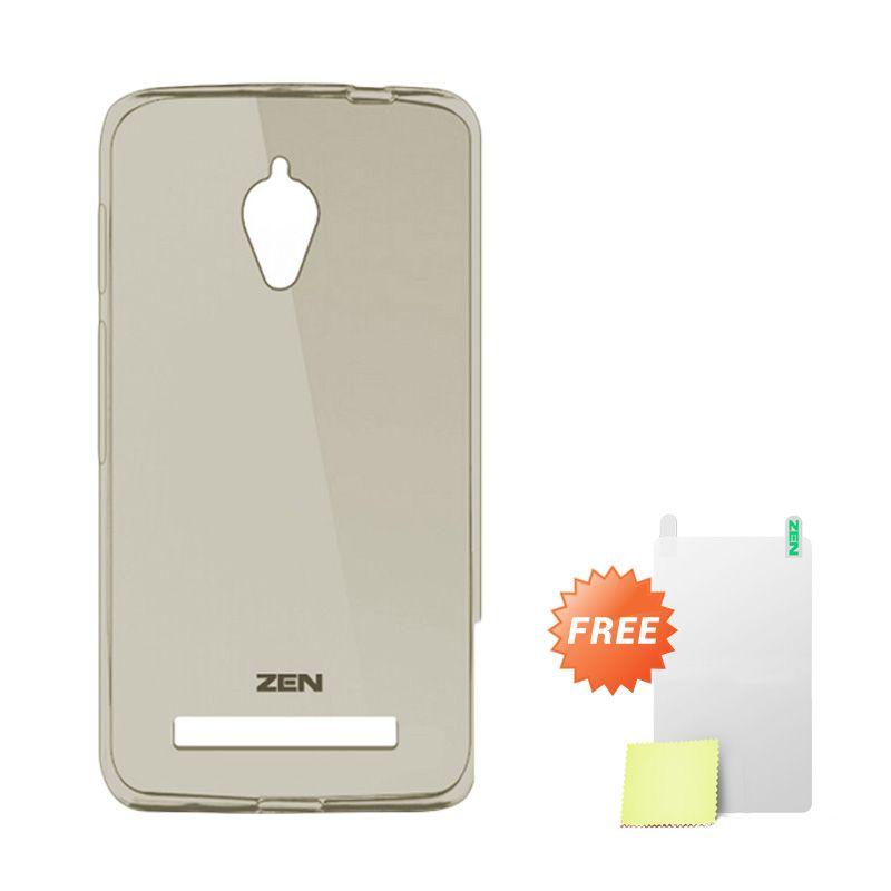 Zen TPU Ice Grey Soft Casing for Asus Zenfone C ZC451CG + Screen Protector