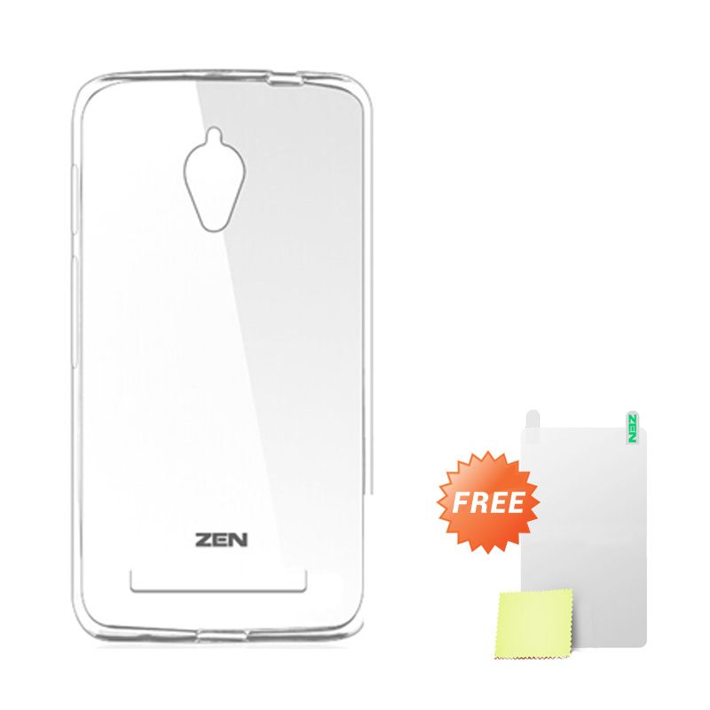 Zen TPU Ice White Soft Casing for Asus Zenfone C ZC451CG + Screen Protector