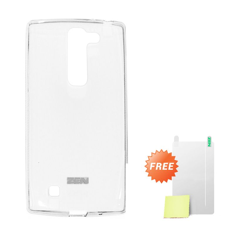Zen TPU Ice White Soft Casing for LG Magna + Screen Protector