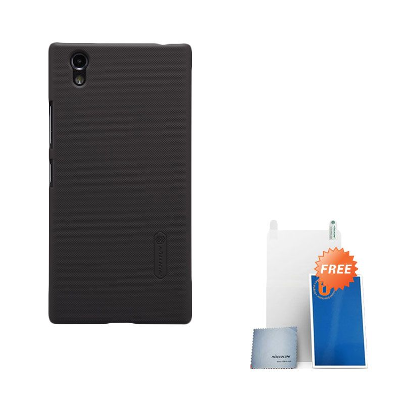 Nillkin Super Frosted Shield Brown Casing for Lenovo P70 + Screen Protector
