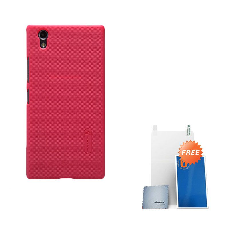 Nillkin Super Frosted Shield Red Casing for Lenovo P70 + Screen Protector