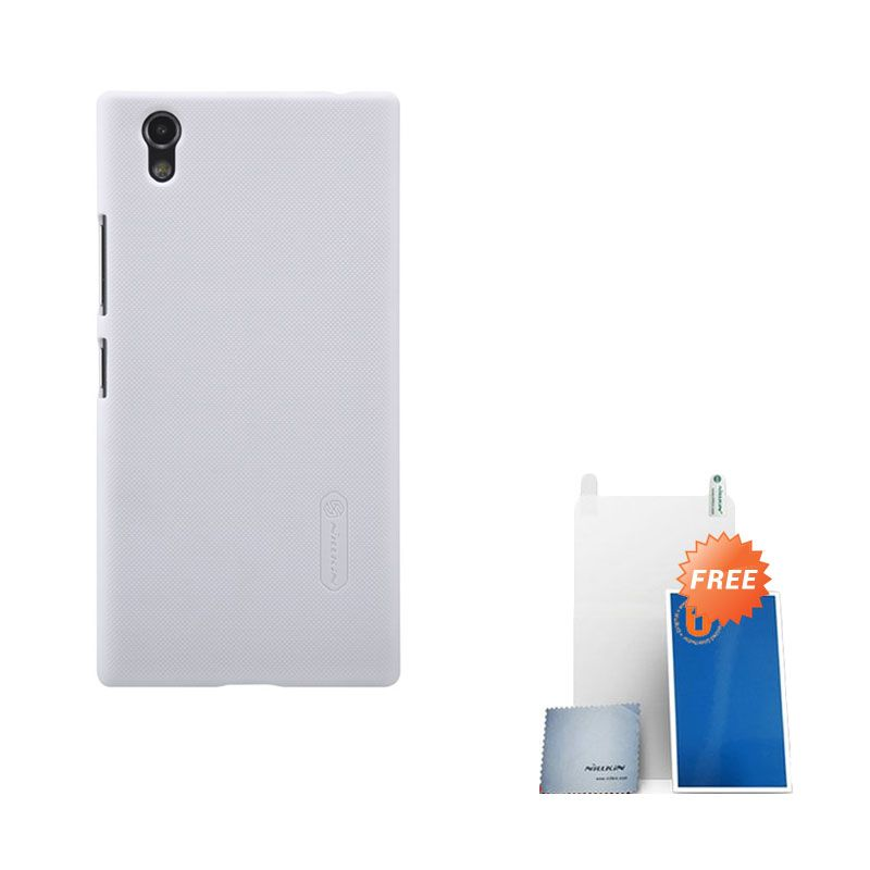 Nillkin Super Frosted Shield White Casing for Lenovo P70 + Screen Protector