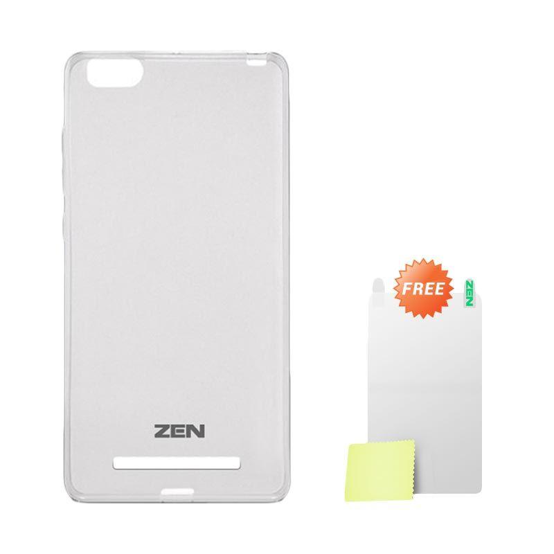 Zen TPU Ice Grey Soft Casing for Xiaomi Mi4i + Screen Protector