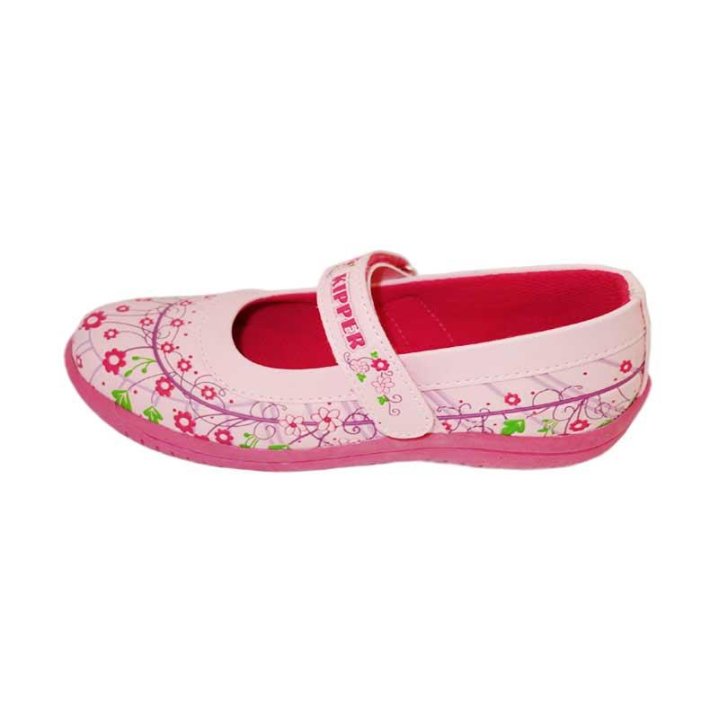 Kipper Type Diamond2 Sepatu Anak Perempuan Slip On Merah muda .