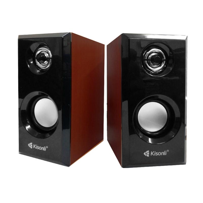 harga Kisonli 2.0 T-001 Speaker Aktif - Brown Blibli.com