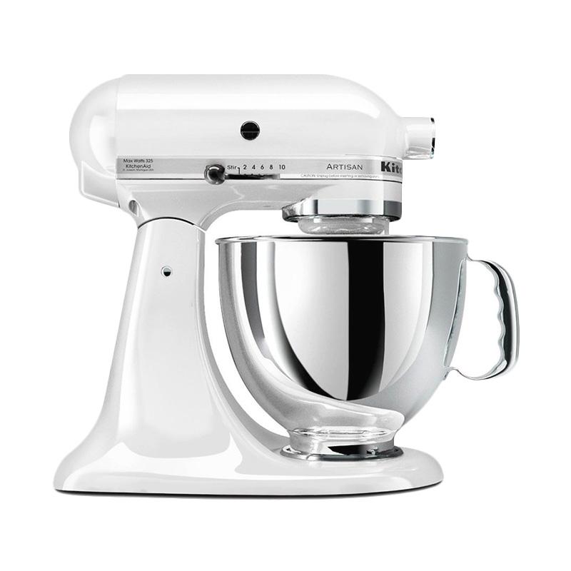 Kitchen Aid 5KSM150PSWH Artisan Series 5-Quart Stand Mixer - White