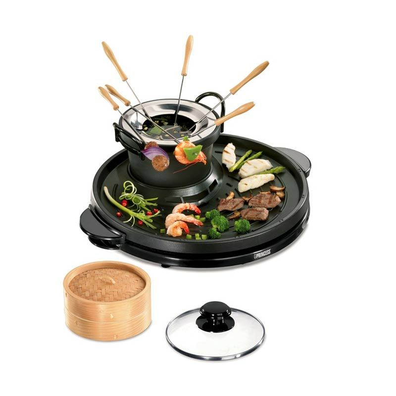 jual princess classic grill fondue steamer 162290 online harga kualitas terjamin. Black Bedroom Furniture Sets. Home Design Ideas