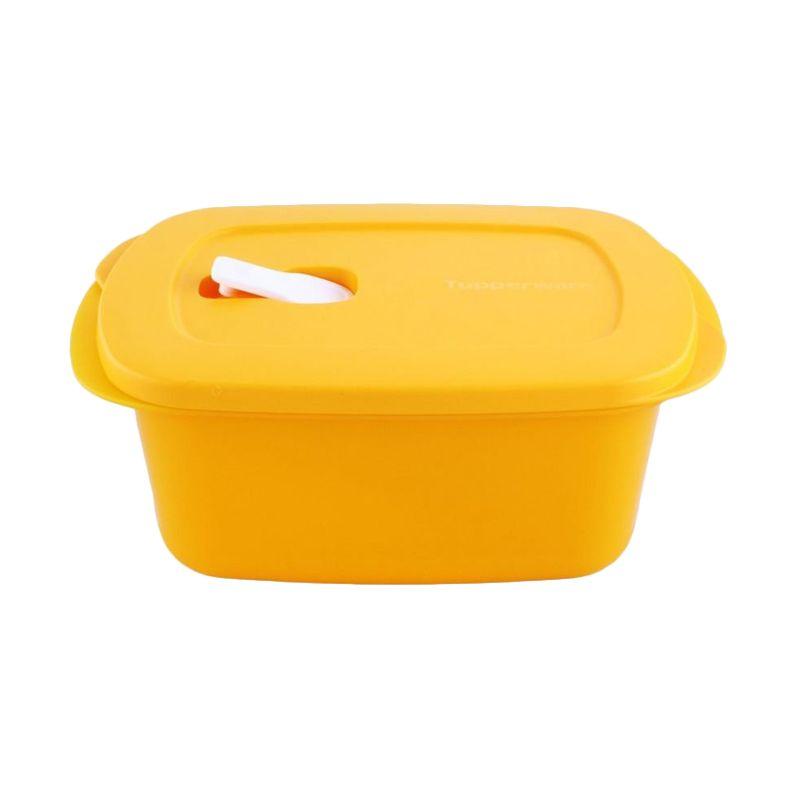 Tupperware Crystalwave Rectangular Kuning Toples