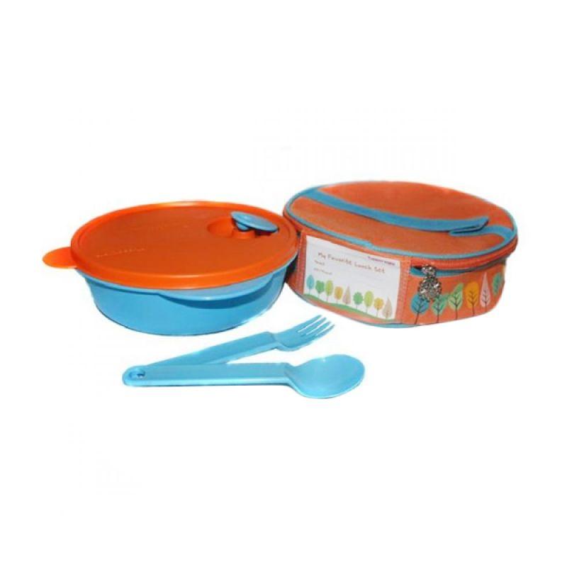 Tupperware Fancy Crystal wave Orange Biru Kotak Makan