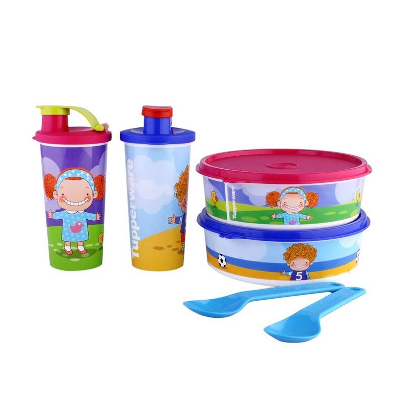 Tupperware LR My Curly Twins Set Alat Makan [6 Pcs]