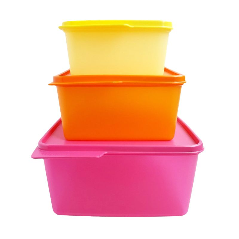 Tupperware New Cozy Nest Warna Warni Set Toples [3 Pcs]
