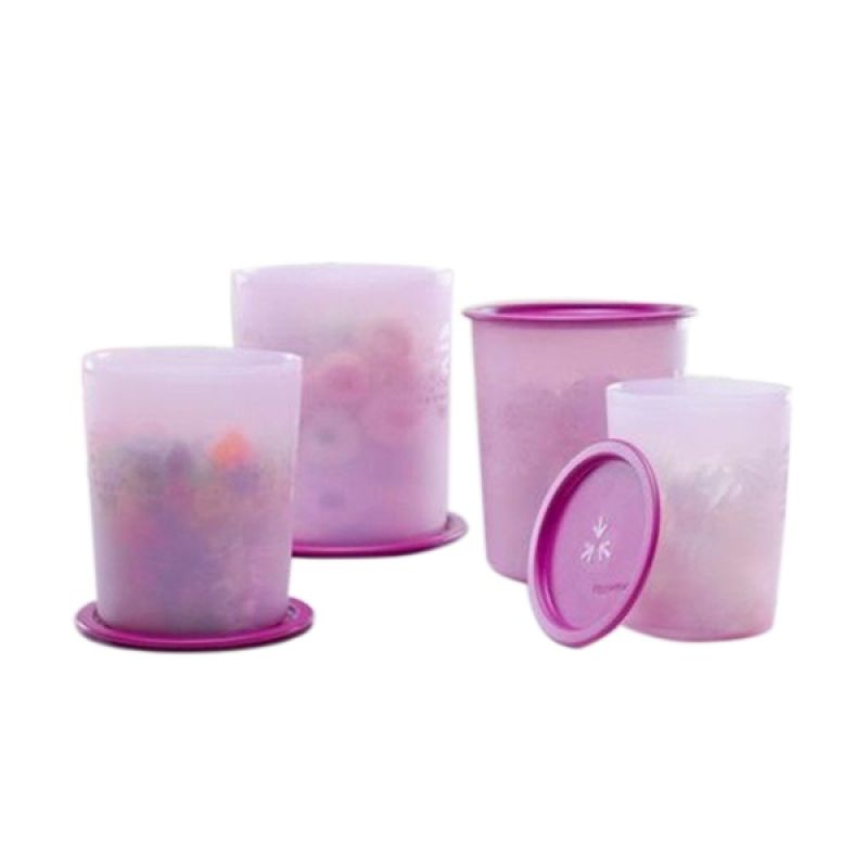 Jual Tupperware Set Mosaic Canister Ungu Set Toples 4 Pcs