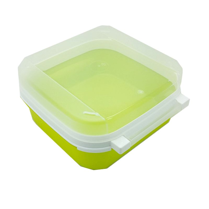 Tupperware Signature Square Hijau Toples [1 L]