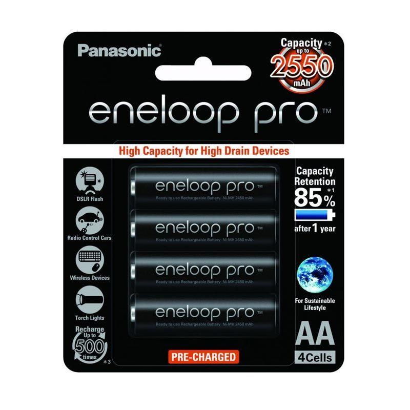 Eneloop A2 Pro BK-3HCCE/4BT Hitam Baterai