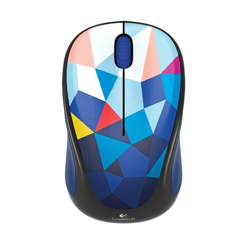Logitech M238 Motif Segi Biru Wireless Mouse