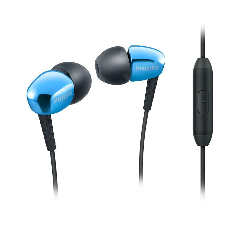 Philips SHE 3905 Biru Headset