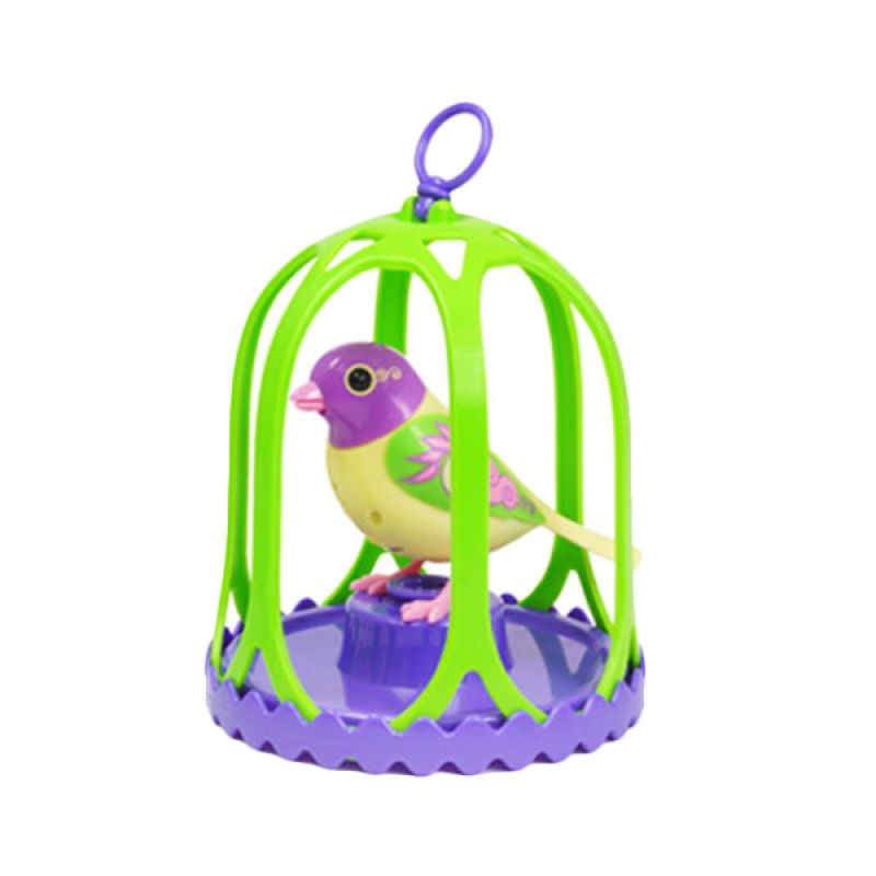 CSL Digibird Electric Singing Bird Toy Green Mainan