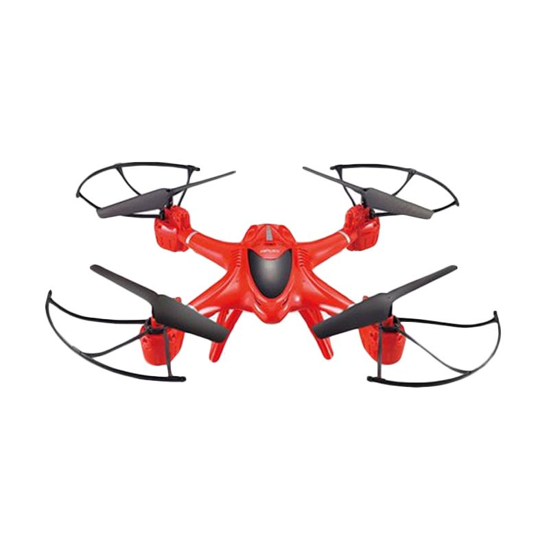 MJX 6-Axis RC Quadcopter Drone with Camera and Bracket X400 FPV Merah Mainan Remote Control [2.4 G]