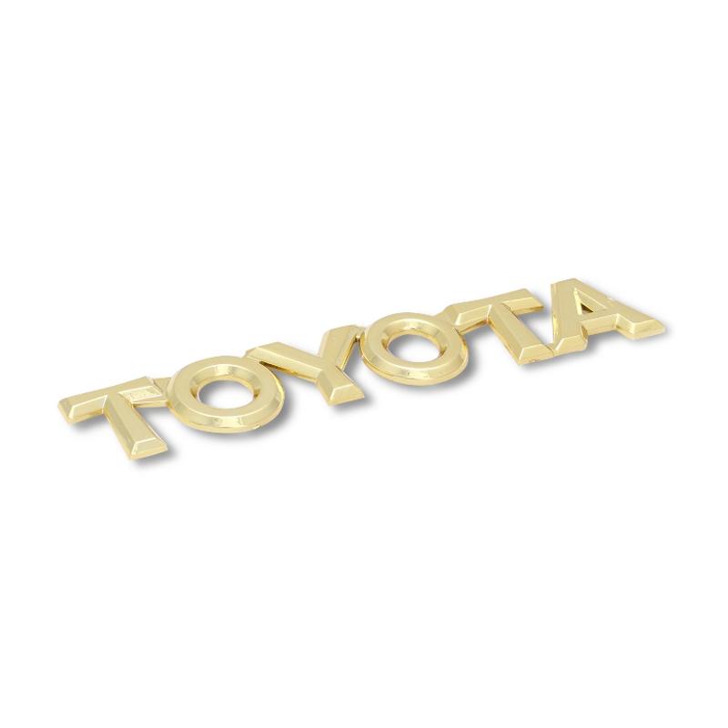 harga Klikoto Logo Toyota Emblem - Gold [2 Pcs] Blibli.com