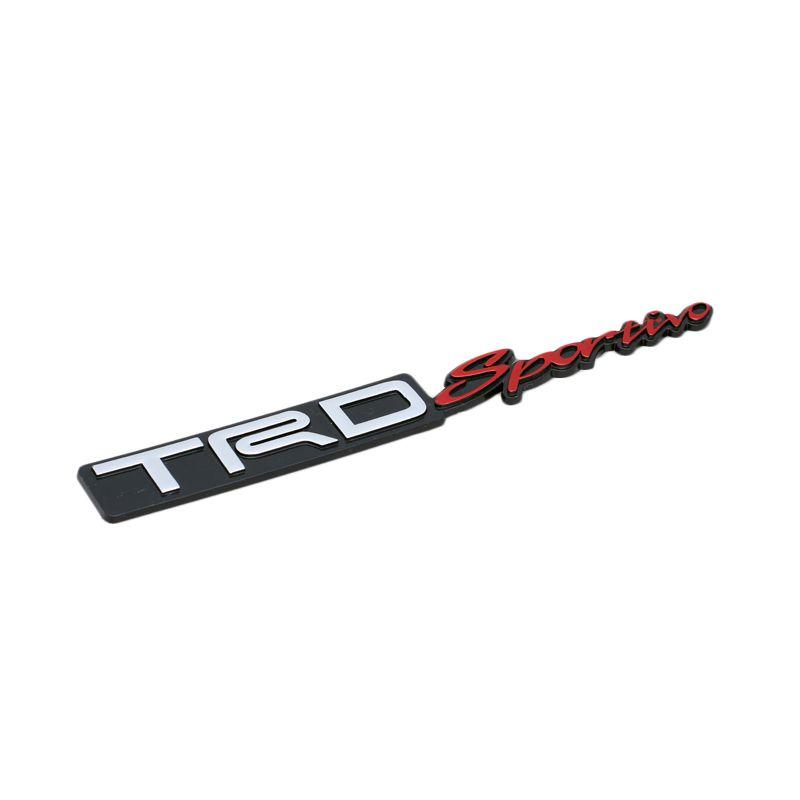 Klikoto Emblem Logo For TRD Sportivo - Embose Black [Small]