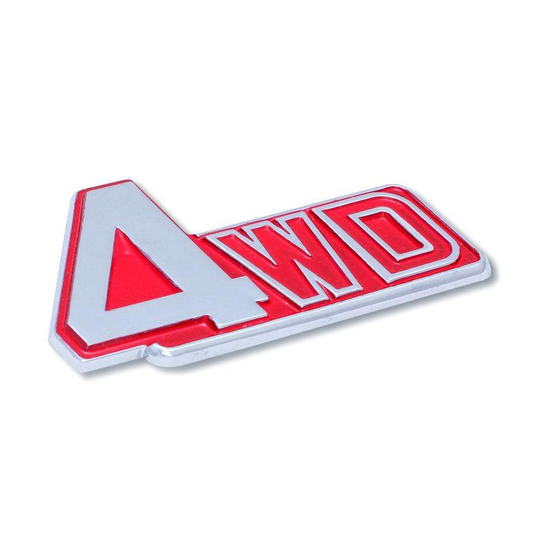 Klikoto Emblem Red Logo for 4WD