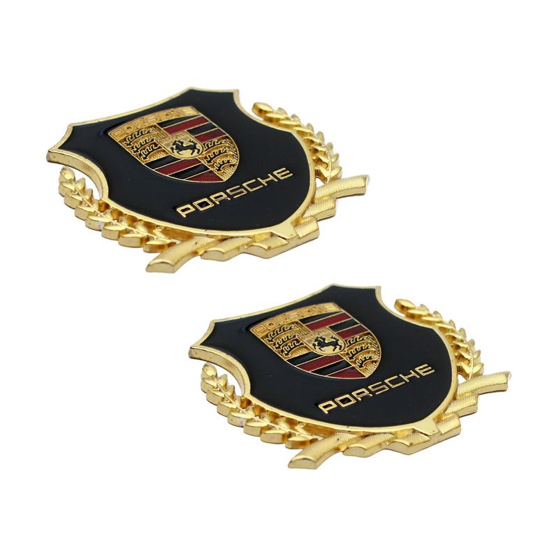 Klikoto Logo Porsche Samping Set Emblem