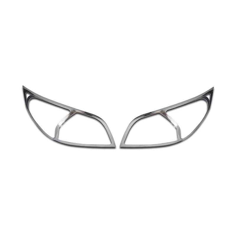 Klikoto Silver Garnish Lampu Depan Set untuk Toyota Rush Baru