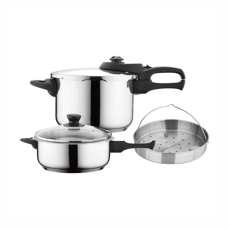 CS Kochsysteme Varel Pressure Cooker 4 + 8L lt