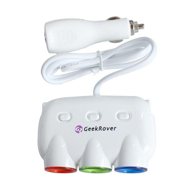 GeekRover 3 Socket Ciggarette Lighter Power Adapter