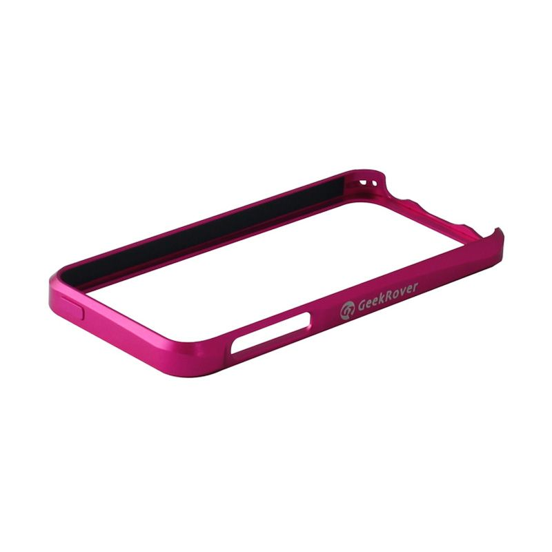 GeekRover Apple iPhone 5 / 5S Sliding Bumper - Merah Muda