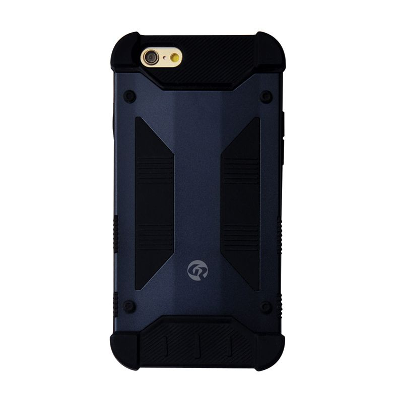 GeekRover Armor Hybrid Casing NavyBlue Black for Apple iPhone 6