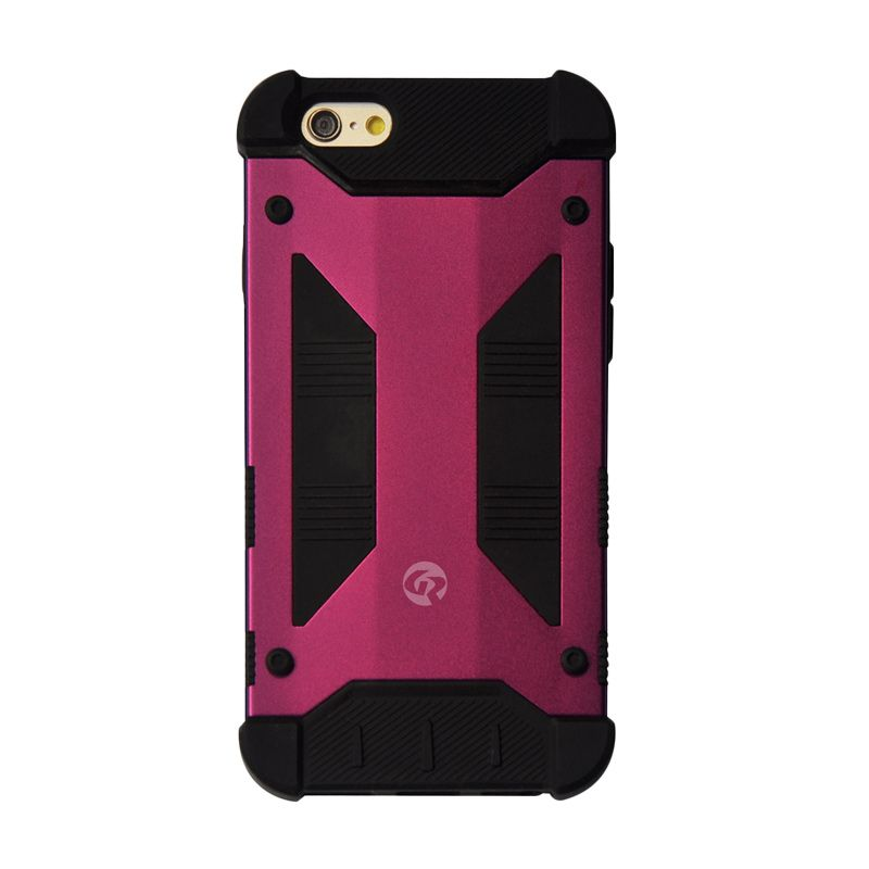 GeekRover Armor Hybrid Red Black Casing for Apple iPhone 6